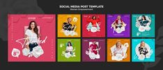 Instagram posts collection for women emp... | Premium Psd #Freepik #psd