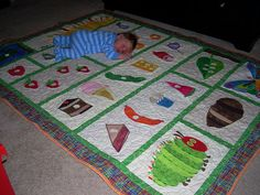 Noah's Very Hungry Caterpillar Quilt by isaiah49_3, via Flickr