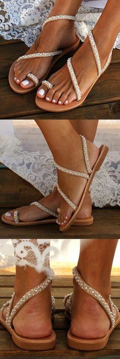 Sommer Schuhe Sandalen Strand Boho Knöchelriemen Rutschfest Frauen Damen