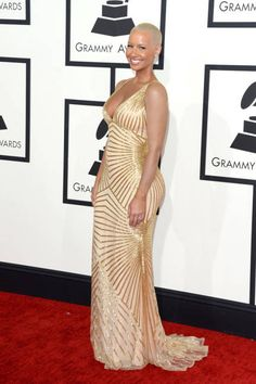 Amber Rose at the 2014 Grammys