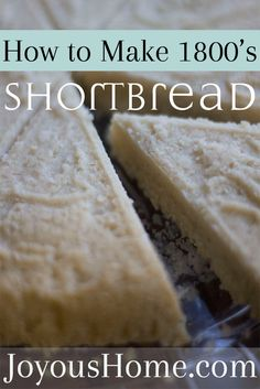 Simple, 3 ingredients! Delicious! Make 1800's Shortbread via @joyhome
