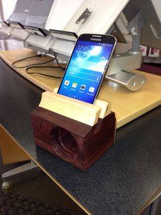 Enceintes Samsung Galaxy S4 et S5 en bois par Bloodwood sur Etsy