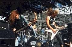 Metallica at the Monsters of Rock Festival.