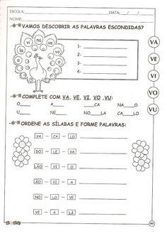 ATIVIDADES DE ALFABETIZAÇÃO COM A LETRA V — SÓ ESCOLA Kids Learning, Classroom, Education, School, Alice, Julia, Leo, Rose, Preschool Literacy Activities