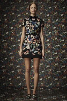 butterfly print minidress :: Pre-Fall 2014 collection by #Valentino