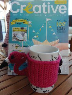 Réalisation de Maryline pour ce superbe mug cosy des tropiques !