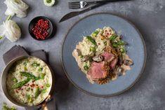 FUCHS - Carré d'agneau, risotto aux asperges et à l'ail des ours, crème aux morilles