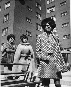 c3888be1 Diana Ross, Florence Ballard and Mary Wilson at the Brewster Housing  Projects at Wilkins and St. Antoine Streets, off and Mack Ave. in Detroit,  ...