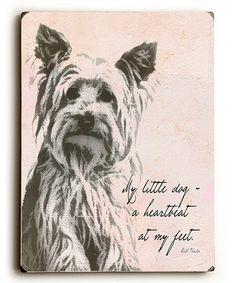Look at this #zulilyfind! Pink 'My Little Dog' Wall Art #zulilyfinds