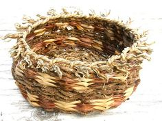 Hand Woven Basket Hawaiian Natural Rustic by HanaMauiCreations, $50.00