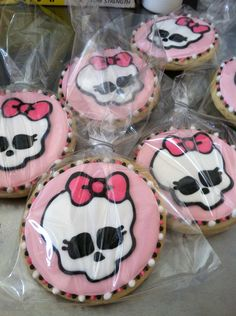 Monster High sugar cookies.
