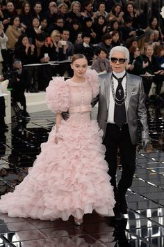 Chanel haute couture printemps ete 2017 lily-rose depp karl lagerfeld 5
