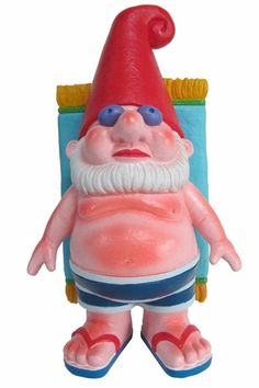 Sunbathing Gnome Statue only $29.99 at Garden Fun - Funny Gag Gift Gnomes