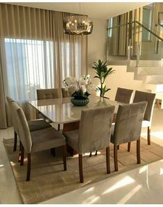 outstanding dining room table decor ideas 16 < Home Design Ideas Dining Room Table Decor, Dining Room Lighting, Dining Room Design, Dining Chairs, Dining Area, Small Dining, Modern Dining Table, Dining Rooms, Home Living Room