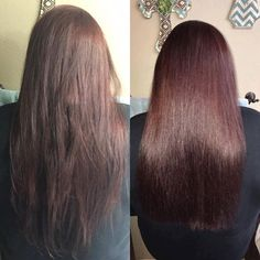 Monat is for everyone...and here is a good example. Can anyone relate to the before picture below. I know so many of you have hair just like this and you think you have healthy beautiful hair. I can prove otherwise. This after picture are you ready is after 1 wash...thats right 1 wash. she used the Let it Grow Shampoo and a Masque treatment. this is amazing