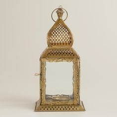 Small Clear Kamali Tabletop Lantern | World Market