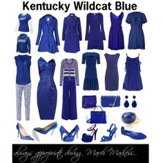 Kentucky Wildcat Blue, created by pattigeorgeky  Have to have the Kentucky Blue wardrobe game-ready now ;)