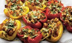 Mmmmm...this looks delicious! Yotam Ottolenghi's stuffed peppers with fondant swede and gruyère recipe