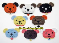 8 Colors Crochet Dog Face Applique Scrapbooking Craft | eBay