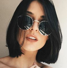 80 Bob Hairstyles To Give You All The Short Hair Inspiration - Hairstyles Trends Bob Haircut For Round Face, Round Face Haircuts, Short Bob Haircuts, Short Hairstyles For Women, Hairstyles Haircuts, Haircut Short, Fashion Hairstyles, Haircut Styles, Haircut Bob