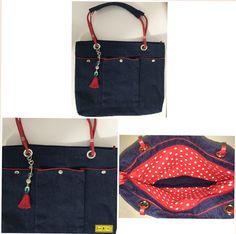 D I A • D A S • M Ã E S • 2 0 1 6   Jeans + Vermelho  Bolsa jeans com alças de couro vermelho e detalhes de jeans. Bolsa com três bolsos externos com botões de pressão, penduricalho na alça enfeitando. Forro de tecido de algodão vermelho de poá branco.  Tamanho: 35x28,5cm.     arteestiloartesanato.wix.com/site