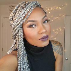 gray box braids - Google Search