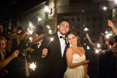 Sparkler send-off at wedding {Dana Lynn Photo, Video & Photobooths}