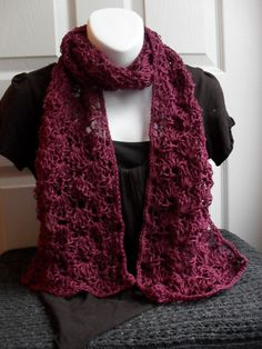 Ravelry: Lacey Crochet Scarf Pattern pattern by Chriss Smith