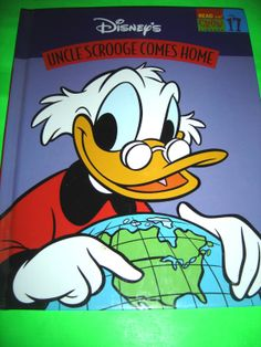 DISNEY'S UNCLE SCROOGE COMES HOME 1997 HARDCOVER CHILDREN'S BOOK #Kids #Book