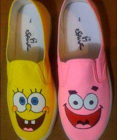 363b1b845e9c Spongebob and Patrick Canvas Shoes Php 1000