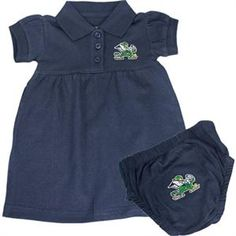 University of Notre Dame Fighting Irish Shamrock Striped Game Day Dress with Bloomer