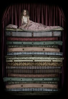 Princess and the Pea (memo to self: if I ever have a daughter, get her pic done like this)