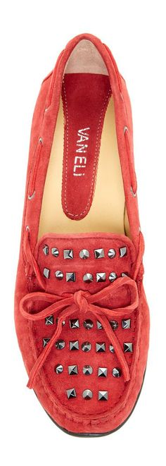 Red Studded Loafers! So cute :)