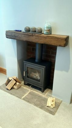Most up-to-date Pictures wooden Fireplace Hearth Suggestions Chesney Shoreditch in silver House Design, Cosy Living Room, House Interior, Home Living Room, Home, Wooden Fireplace, Log Burner Living Room, Fireplace Hearth, Living Room With Fireplace