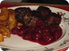"""Ballekes met Krieken"" a Belgian Dish of meatballs with a cherry sauce. Oh yum! Sweet Recipes, New Recipes, Cooking Recipes, Belgium Food, Belgian Cuisine, Cherry Sauce, Always Hungry, Cherries, Food Inspiration"
