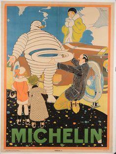 Vintage Michelin poster