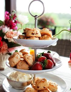 scones on stand