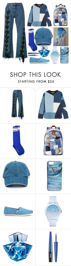"""""""Random Day #88"""" by wannabefamous212 ❤ liked on Polyvore featuring Marques'Almeida, Victoria, Victoria Beckham, Marc Jacobs, GUESS, TOMS, Lacoste and Thierry Mugler"""