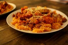 Chile Pepper Pasta with Honey Nut Tomato Sauce