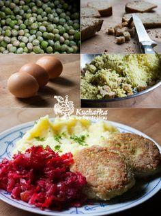 Kuchařka ze Svatojánu: HRACHOVÉ KARBANÁTKY Hlavní jídlo - luštěniny Risotto, Food And Drink, Eggs, Vegetarian, Cooking, Breakfast, Ethnic Recipes, Czech Republic, Diet