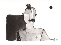 Sub Lunam No. 5  Ink Drawing on Paper by mellonfineart on Etsy, $50.00
