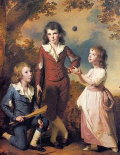 (1789) Wood children ~ Joseph Wright of Derby