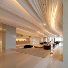 Love the lighted columns...  Hilton Pattaya  Architects: Department of Architecture  Location: Pattaya, Thailand  Lightning Designer: Dazzle Design  Project year: 2010  Photographs: Wison Tungthunya