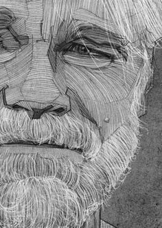 Philip Seymour Hoffman Portrait, Charcoal Line Drawing, Illustration.I like the line art of this if not the portrait itself Life Drawing, Figure Drawing, Drawing Sketches, Painting & Drawing, Art Drawings, Drawing Portraits, Sketching, Drawing Artist, Drawing Ideas
