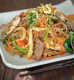 be healthy-page: Japchae (Korean Stir Fried Noodles)