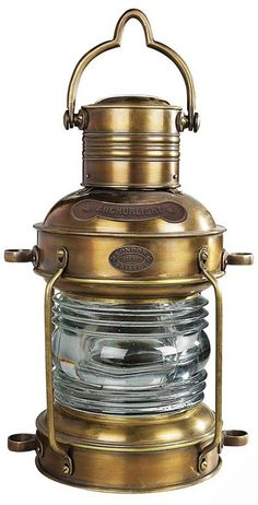 Anchor Light Large Bronze Oil Lamp Nautical Lighting