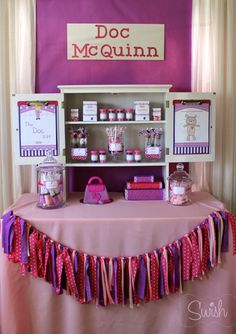 Doc McStuffins - Table Set up - Party Ideas & Doc McStuffins party decorations package - PERSONALIZED Doctor ...