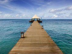 "A Guide to ""Glamping"" Around the World: Banyan Tree Madivaru, Madivaru, Maldives Modern Beach Decor, Maldives Resort, Luxury Camping, Luxury Travel, Resort Villa, Camping World, Stay The Night, Vacation Spots, Dream Vacations"