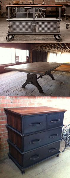 Industrial furniture. Awesome.