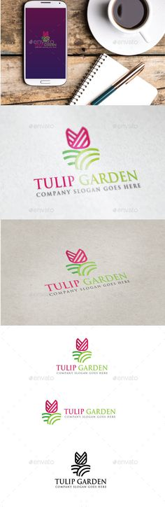 Tulip Garden Logo by Goodigital Features: - eps and ai FILE - CMYK 300 DPI - FREE FONT USED - LAYERS ORGANIZED FONT Trajan Bold Download: http://www.fontpalace.co
